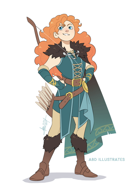 Merida the Ranger   Disney and Dragons