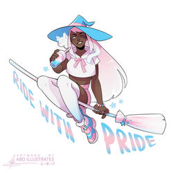 Ride with Pride - TRANS [SPEEDPAINT]