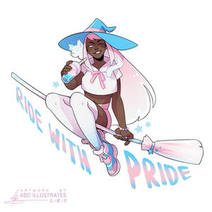 Ride with Pride - TRANS [SPEEDPAINT]