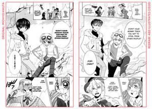 Manga Redraw: Mamotte Lollipop [Side-by-Side]