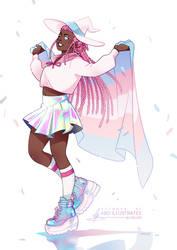 Trans Pride Babey!! [SPEEDPAINT]