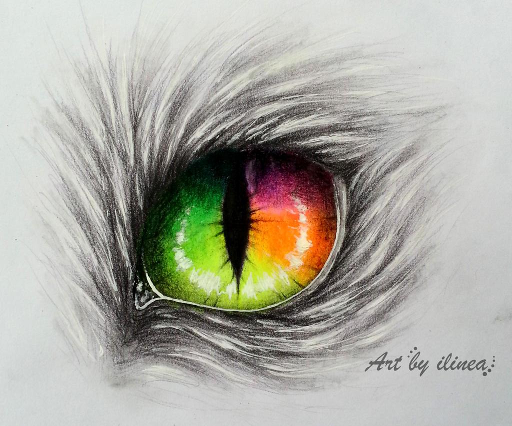 Rainbow cat eye by ilinea on DeviantArt