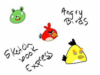 Angry Birds iPad Doodle by aznnerd09