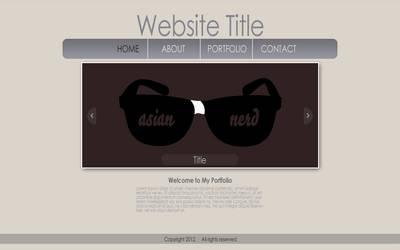 Slide Show Portfolio Website by aznnerd09