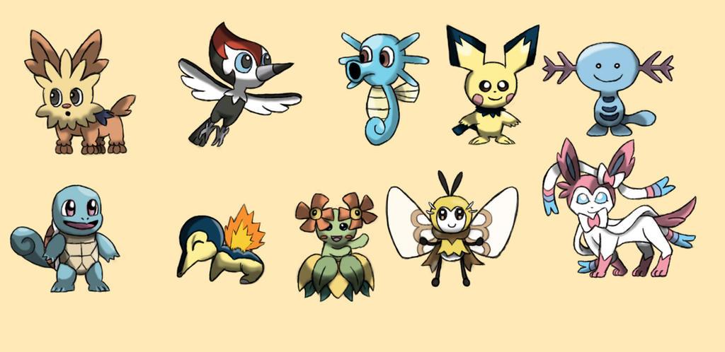 10 cutest pokemon by Ruyc