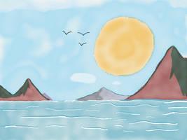 Ipad drawing sea