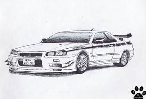 Nissan Skyline R34 GT-R V-Spec II by TougeDrifting85 on