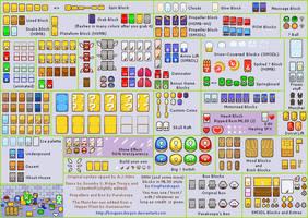 Mario Series blocks in MLSS Style - V2 by kingpendragon