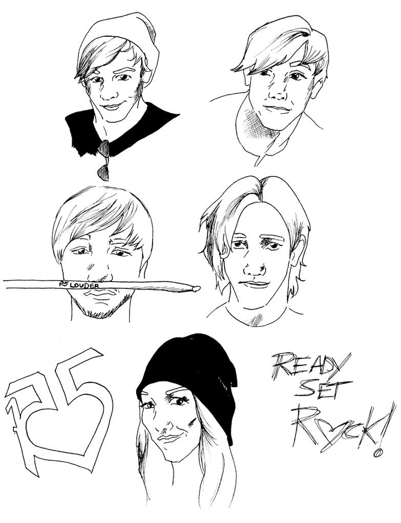 R5 Sketch Dump By Demifanatic On Deviantart Ross Lynch Coloring Pages