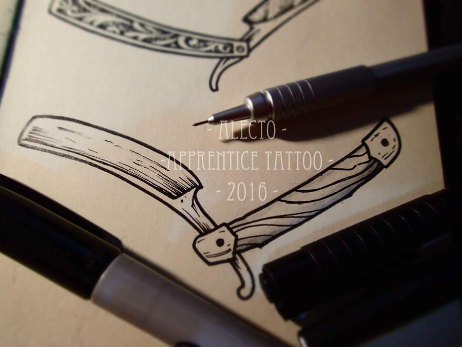 Razor tattoo design by alecto de cthulhu on deviantart for Cut throat tattoo