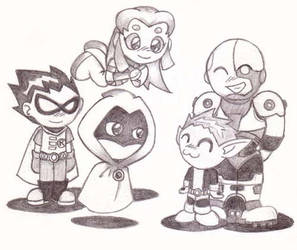 Teen Titans: Chibi by Arriscas