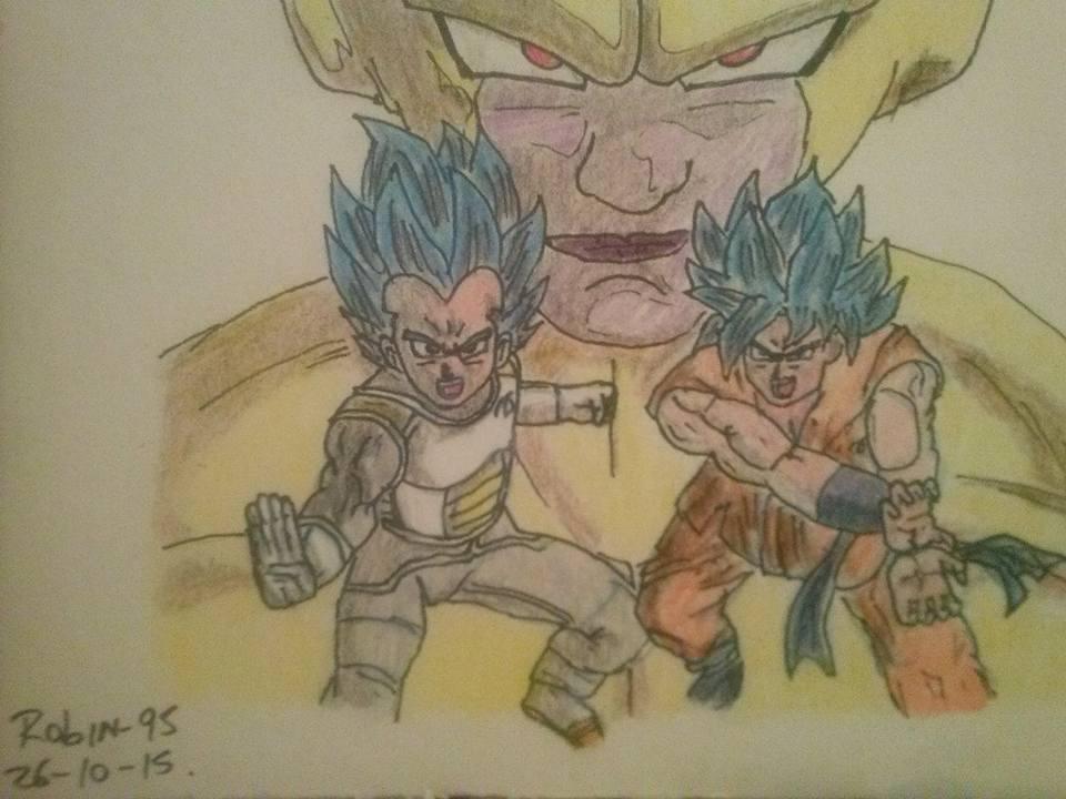 Dibujos Para Colorear De Goku Y Vegeta: Dibujo De Goku Y Vegeta Vs Freezer By SeindonArt On DeviantArt