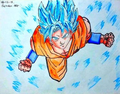 DIBUJO DE GOKU SSJ DIOS SSJ AZUL-DRAGON BALL SUPER by ...