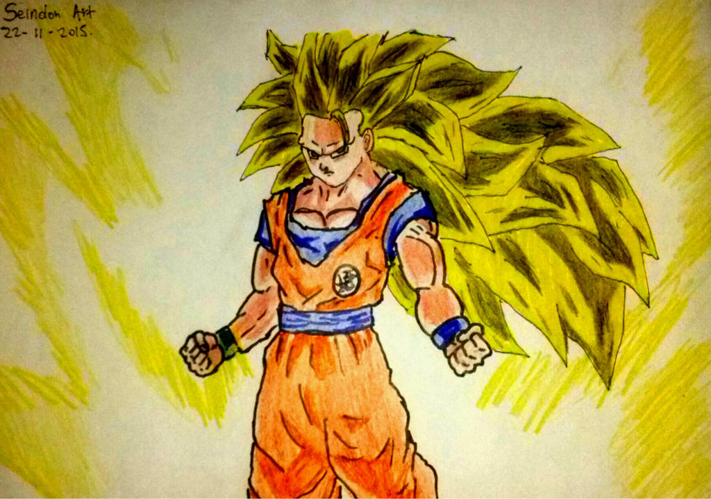 Dibujo De Goku Ssj 3  Dragon Ball Super by SeindonArt on DeviantArt