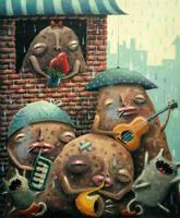Singing Potatoes by wyhivska