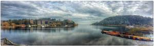Bahia en lago Villarrica