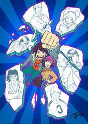 Scott Pilgrim Ramona poster by VencysLao