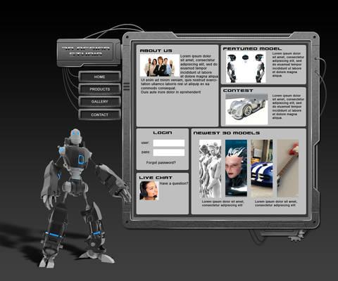 3D models web template