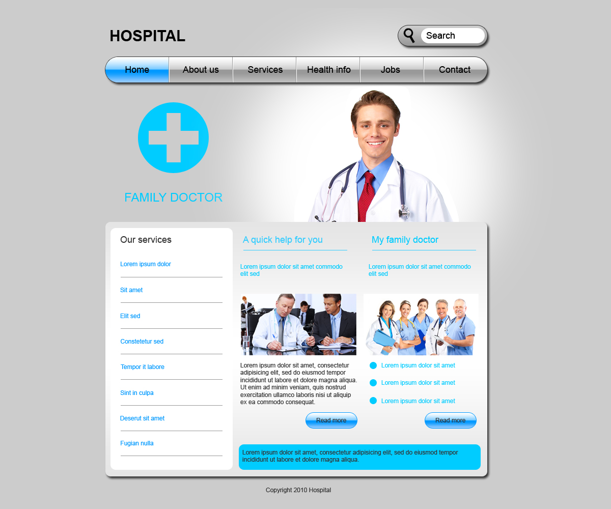 Medical web template by Player-Designer on DeviantArt