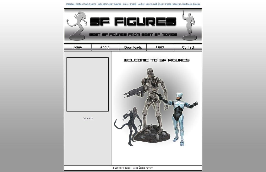 SF Figures (2008) - My first web site :D by Player-Designer