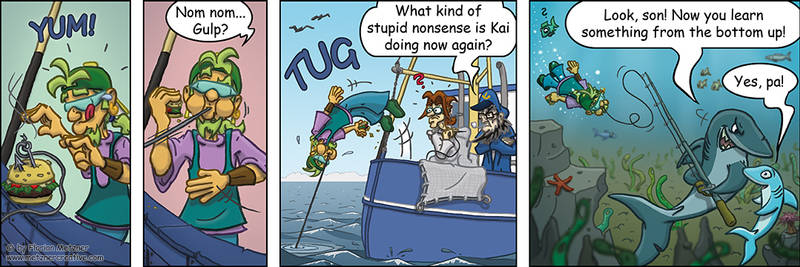 Krabbenjunx comicstrip: Bait