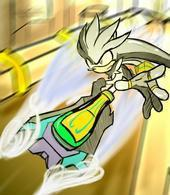 Silver in Sonic Riders by Dark-Super-Sonic