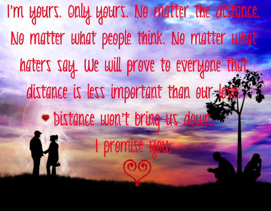 Message for a long distance boyfriend