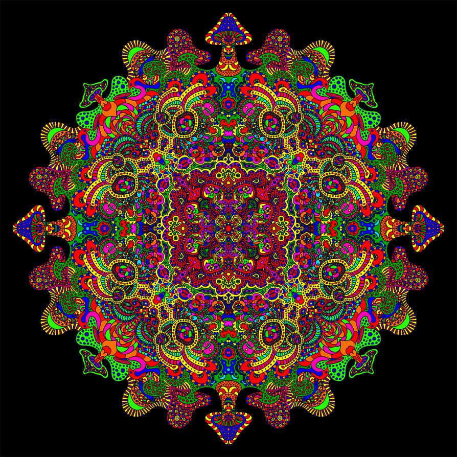 Mandala Color Cycle Gif by Dridon