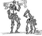 Robot guy and his friend - Metal Doggo