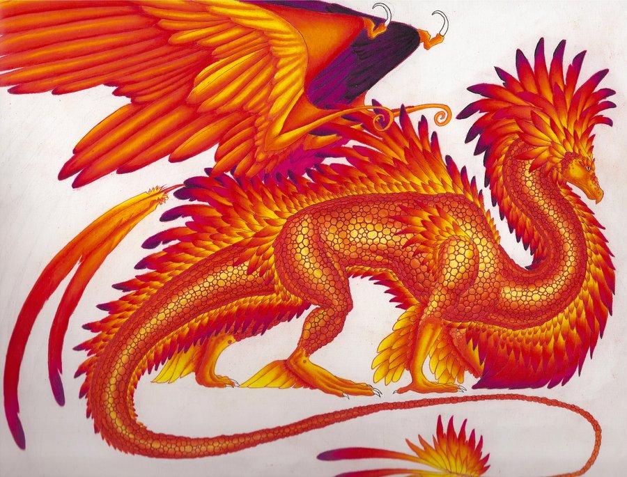 Majestic Phoenix Dragon by Sky-Shifter