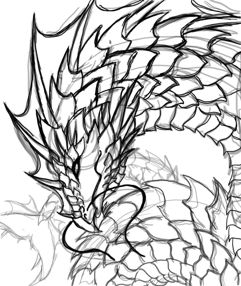 sea serpent coloring pages - photo#25