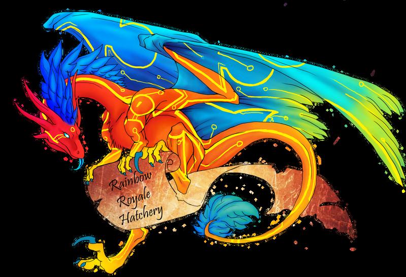 Rainbow Royale Hatchery comm. by Sky-Shifter