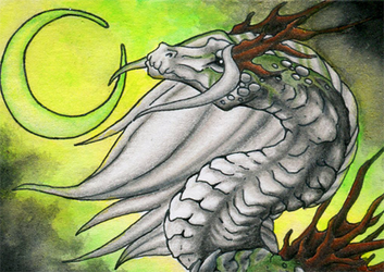 ACEO- Ghostly Moon by Sky-Shifter