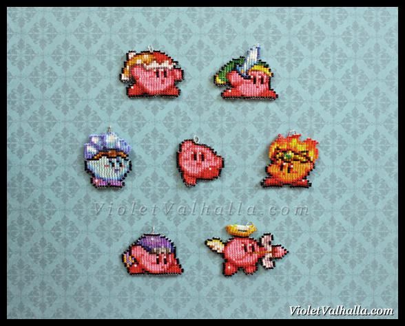 Kirby - Bead Charms by VioletValhalla