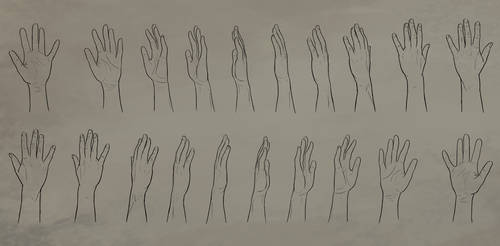 Open Hand Rotation Reference Sheet by Atropicus