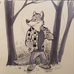 Inktober Day 9- Wearwolf