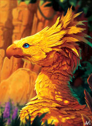 Chocobo Painting by Atropicus