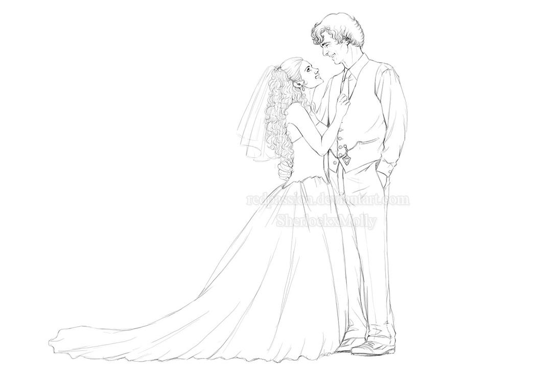 Sherlolly - Wedding - WIP by RedPassion