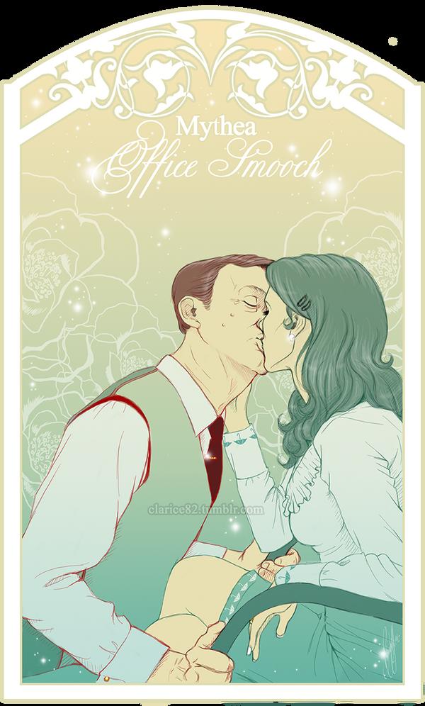 Mythea - Office Smooch by RedPassion