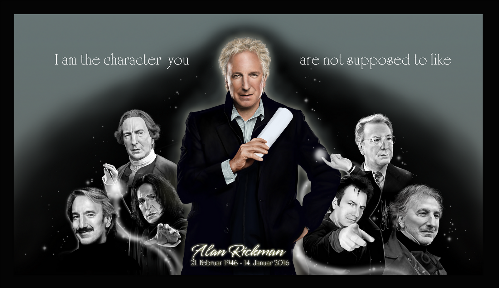 Tribute to Alan Rickman by Nijuuni on DeviantArt