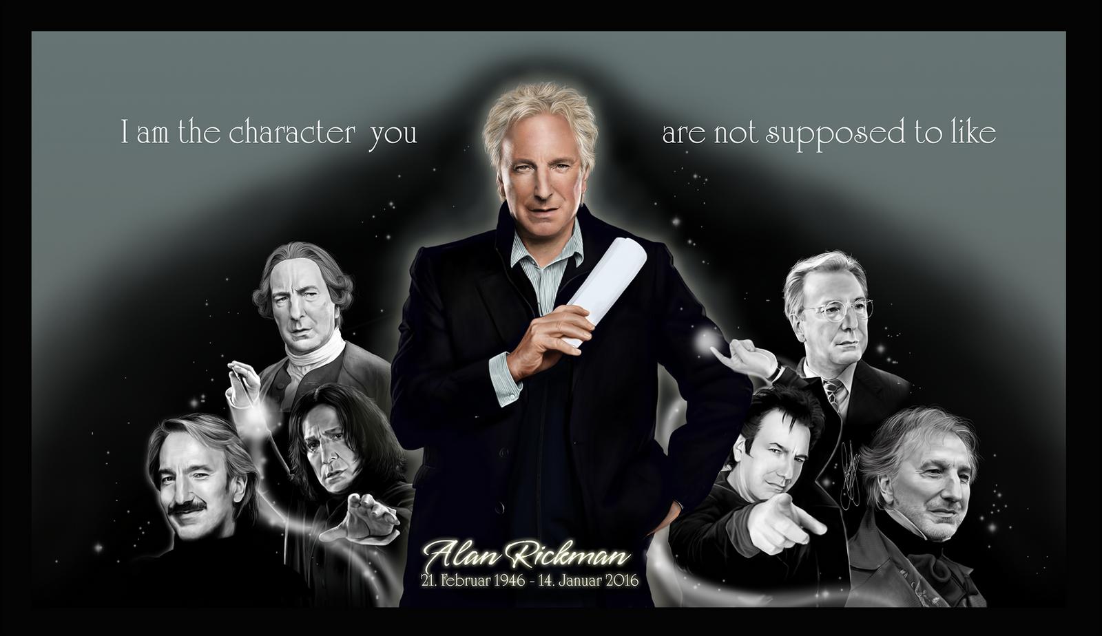 Tribute to Alan Rickman by Nijuuni on DeviantArt
