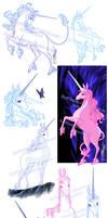 The last Unicorn Sketch Bunch1