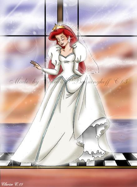 Wedding ariel by redpassion on deviantart for Disney mermaid wedding dress