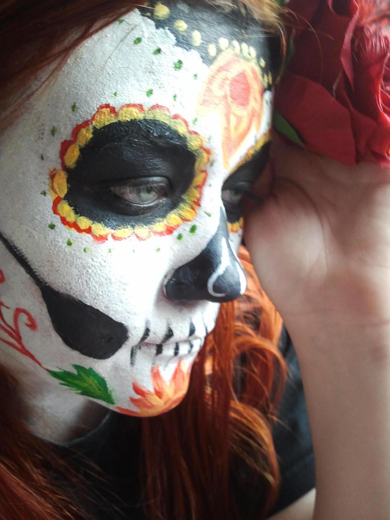 Dia de los muertos face-paint by Amber-Kyou