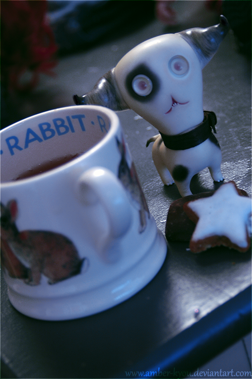 Tea, cookies and something else by Amber-Kyou