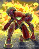 Omega Metroid suit by Manganiac