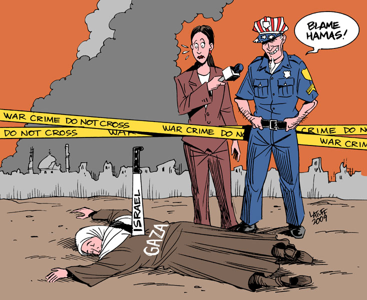 Blame Hamas by Latuff by AnubisGraph