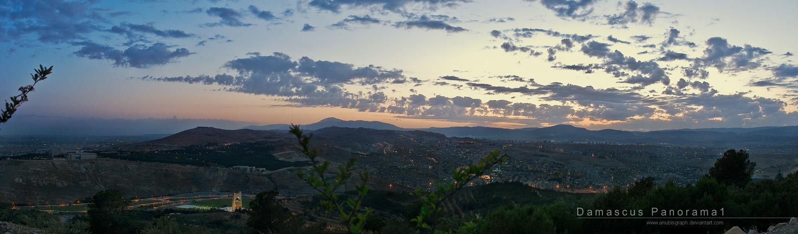 Damascus Panorama 1 by AnubisGraph