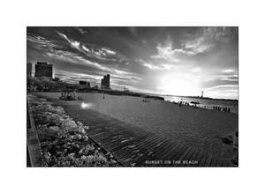 Sunset on te beach