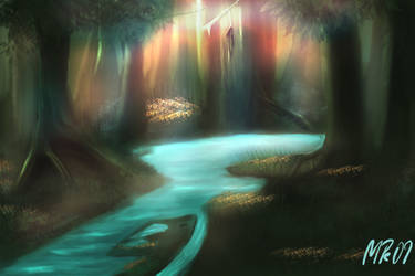 speedpaint forest by nordic-man
